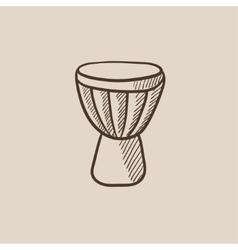 Timpani sketch icon vector