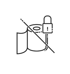 Toilet paper is not available icon vector