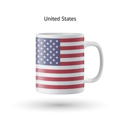 United states flag souvenir mug on white vector