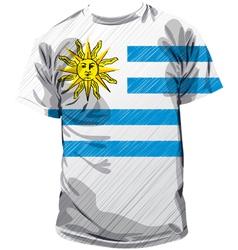 Uruguayan tee vector image