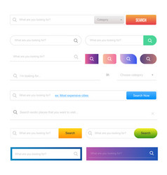 web design elements and buttons ui set vector image vector image