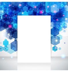 White page layout for Your business presentation vector image vector image