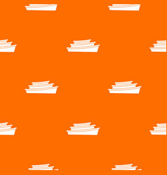 Wooden boat pattern seamless vector