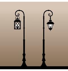 Vintage lanterns vector image