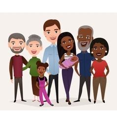 Big happy family cartoon concept vector