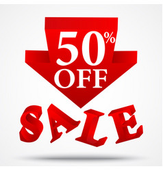 sale and discount design vector image