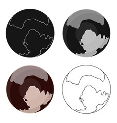 pluto icon in cartoon style isolated on white vector image