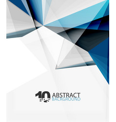 3d triangle polygonal abstract vector