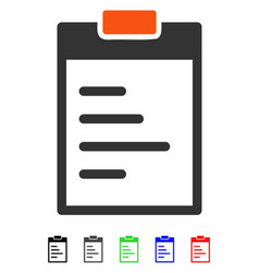 Pad text flat icon vector