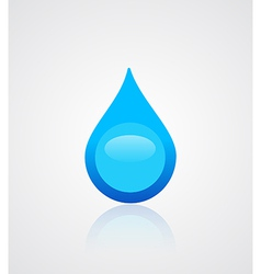 Water drop emblem vector