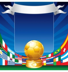 soccer world cup vector image
