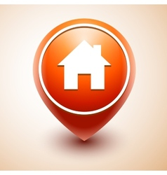 Home icon pin deal isolated vector