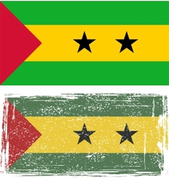 Sao tome and principe grunge flag vector
