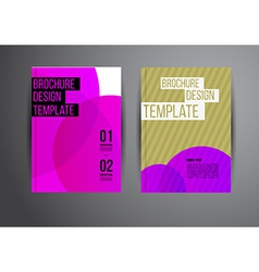 Flyer template vector