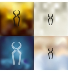 Nippers icon on blurred background vector