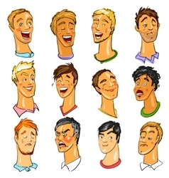 Male faces - expressions vector