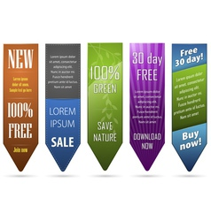 a set of five banners for web vector image