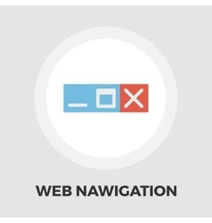 Web navigation icon flat vector