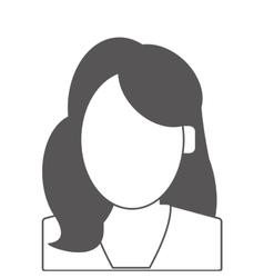 Faceless woman portrait icon vector
