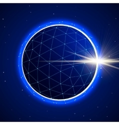 Abstract sphere in space with eclipse vector