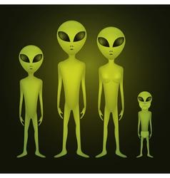 Alien family vector