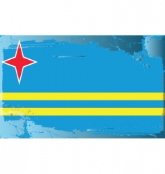 aruba national flag vector image