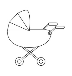 Baby stroller icon image vector