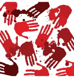 bloody hands vector image