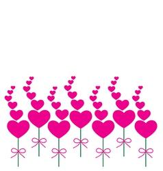 Card pink heart vector