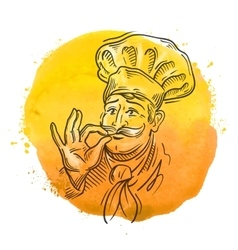 Chef logo design template cooking or vector