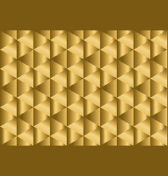 Chic golden seamless pattern with rectangular vector