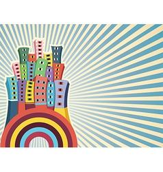 Colorful cityscape vector