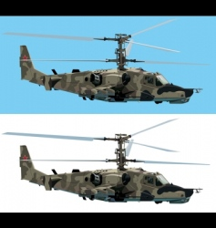 combat helicopter vector image