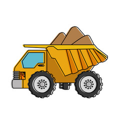 dump truck isolated icon vector image vector image