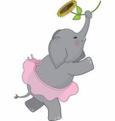 elephant tutu vector image vector image