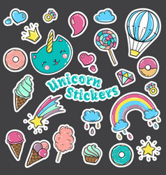 fashion patch badges in 80s-90s style vector image vector image