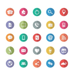 Flat design Universal Outline Icons For Web and vector image vector image