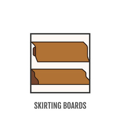floor skirting board sign and symbol material vector image