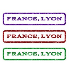 France lyon watermark stamp vector