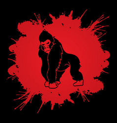 Gorilla king kong angry big monkey graphic vect vector
