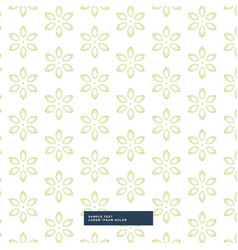 Green flower pattern background vector