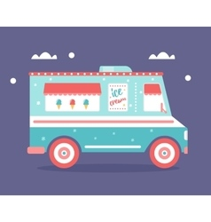 Ice Cream Truck Flat vector image vector image