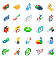 Index icons set isometric style vector