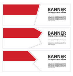 Indonesia flag banners collection independence day vector