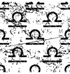 Libra pattern grunge monochrome vector