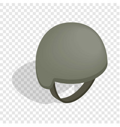 Military helmet isometric icon vector