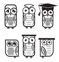 Owl set1 vector image vector image