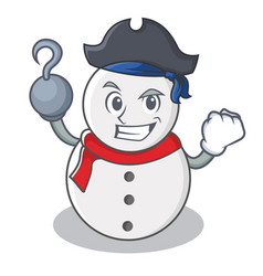 Pirate snowman character cartoon style vector