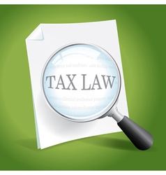 Reviewing Tax Law vector image vector image