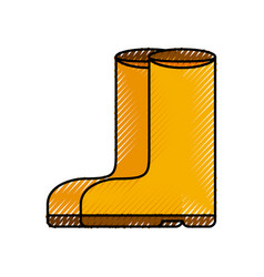 Rubber boots isolated icon vector